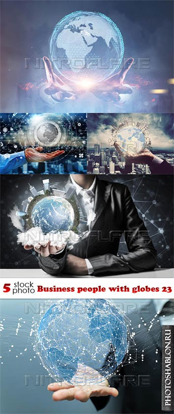 Photos - Business people with globes 23