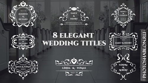 Wedding Titles 61286 - After Effects Templates
