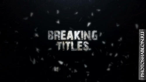 Breaking Titles 85399185 - After Effects Templates