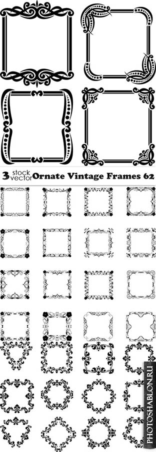 Vectors - Ornate Vintage Frames 62