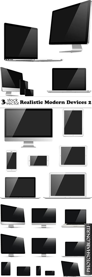 Vectors - Realistic Modern Devices 3