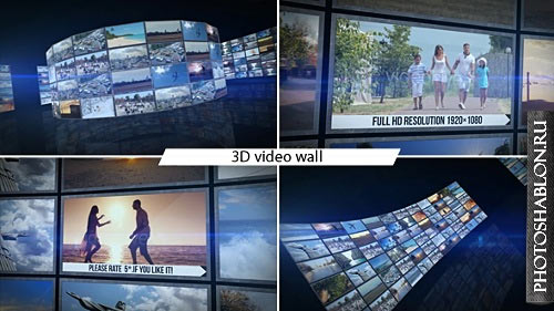 3D Video Wall - After Effects Template