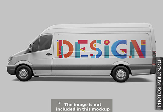 Макет фургона / Free Psd - Van mock up design