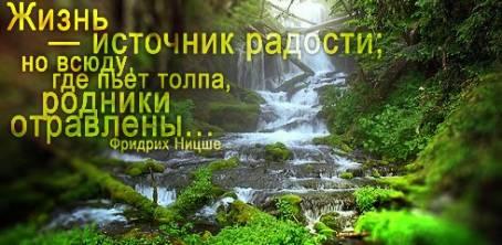 """Цитата: """"Жизнь - источник радости; но всюду..."""