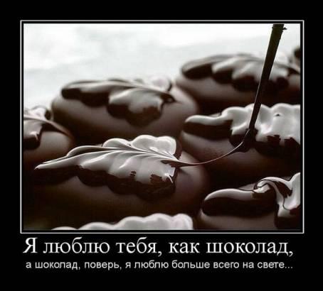 Демотиватор - Я люблю тебя, как шоколад