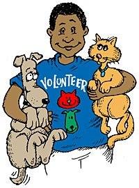 Картинка - Волонтер с животными