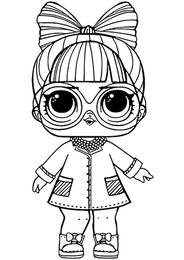 Раскраски Куклы ЛОЛ, картинки для раскрашивания ...