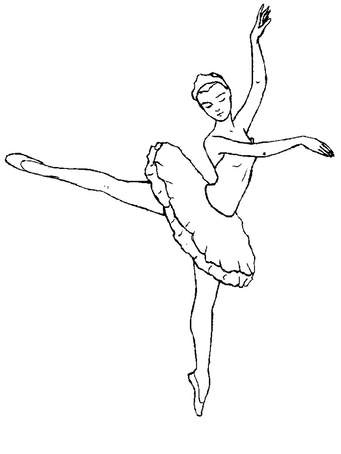 Картинка для срисовки - Балерина