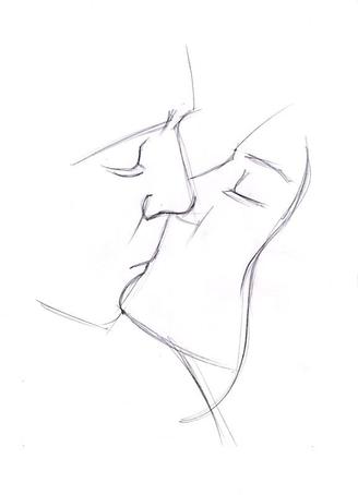 Картинка для срисовки - Поцелуй