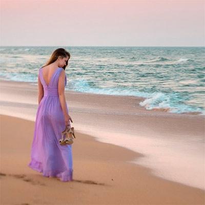 Красивое фото для девушки на аватар - На море
