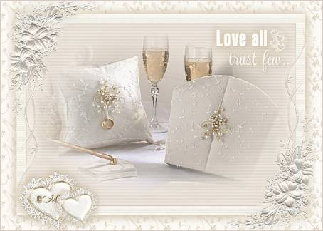 Анимированная открытка ко Дню Свадьбы